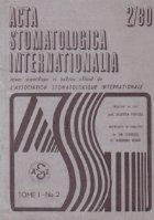 ACTA Stomatologica Internationalia 2/1980