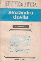 Alexandru Davila, Interpretat de ...