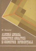 Algebra liniara geometrie analitica geometrie