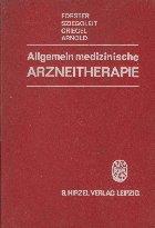 Allgemein medizinische Arzneitherapie