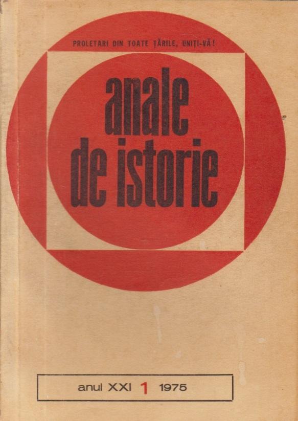 Anale de istorie, Anul XXI, Nr.1/1975