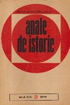 Anale de istorie, Anul XXI, Nr.2/1975