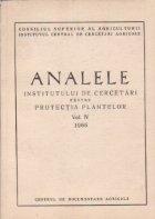 Analele institutului de cercetari pentru protectia plantelor, Volumul al IV-lea 1966