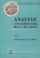 Analele Universitatii din Craiova Seria: