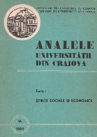 Analele Universitatii din Craiova Seria