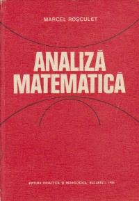 Analiza matematica, Editia a IV-a