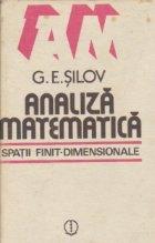 Analiza matematica - Spatii finit-dimensionale