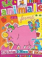 Animale de la ferma. Carte de colorat