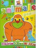 Animale de la zoo. Carte de colorat