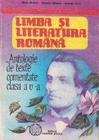 Antologie de texte comentate, Clasa a V-a - Limba si literatura romana