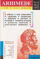 Arhimede - Revista de cultura matematica, Nr. 1-2/2002