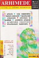 Arhimede - Revista de cultura matematica, Nr. 1-12/2004