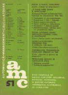 Automatica, Management, Calculatoare Volumul 51