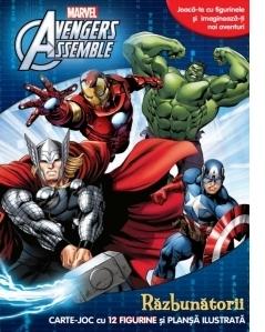 Avengers Assemble. Razbunatorii. Carte  joc cu 12 figurine si plansa ilustrata