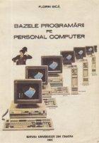 Bazele programarii Personal Computer