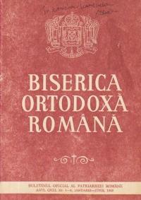 Biserica Ortodoxa Romana - Buletinul Oficial al Patriarhiei Romane, Nr. 1-6, Ianuarie-Iunie/1995
