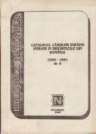 Catalogul cartilor straine intrate bibliotecile