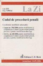 Codul procedura penala (actualizat 2006)