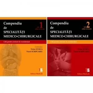 Compendiu de specialitati medico-chirurgicale. Volumele 1 si 2. Util pentru intrare in rezidentiat. Editie revizuita