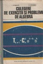 Culegere exercitii probleme algebra pentru