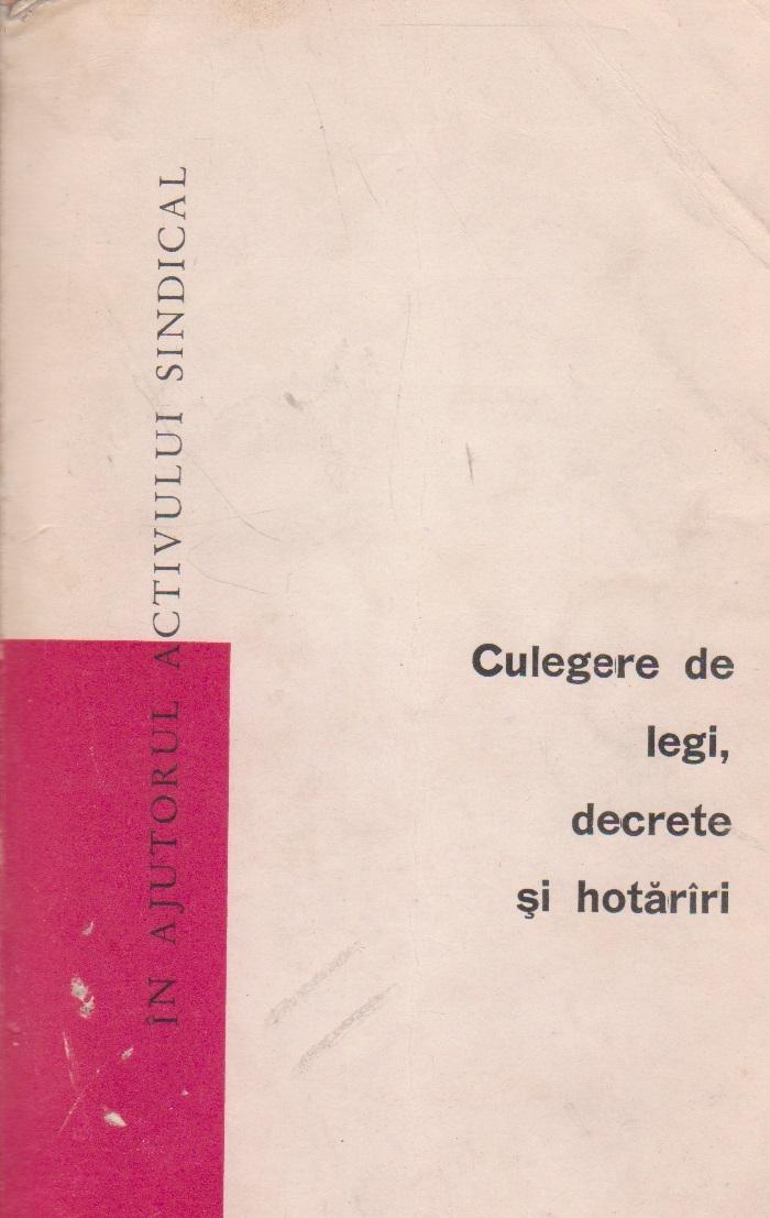 Culegere de Legi, Decrete, Hotariri, Volumul VII