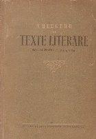 Culegere de texte literare . Manual pentru clasa a VIII - a