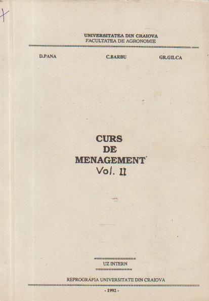 Curs de Management, Volumul al II-lea