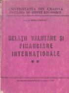 Curs de relatii valutare si financiare internationale, Volumul al II-lea