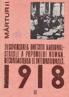 Desavirsirea unitatii national-statale a poporului roman. Recunoasterea ei internationala. 1918 - Documente interne si externe (august 1918 - iunie 1919), Volumul al III-lea
