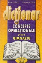 Dictionar concepte operationale pentru gimnaziu