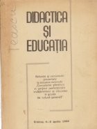 Didactica si Educatia