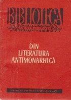 Din literatura antimonarhica