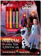 Disney. Regatul de gheață II. Colorăm cu Anna, Elsa și prietenii lor (conține 4 creioane cerate)