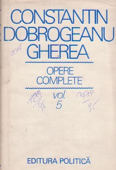 C. Dobrogeanu Gherea - Opere complete, Volumul al V-lea