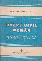 Drept civil roman - Introducere in dreptul civil. Subiectele dreptului civil