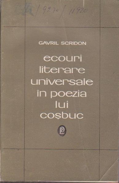 Ecouri Literare Universale in Poezia lui Cosbuc - Studiu de Literatura Comparata