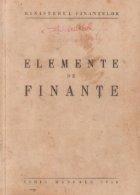 Elemente de finante