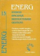 ENERG - Energie. Eficienta. Restructurare. Gestiune, Volumul al XIII-lea