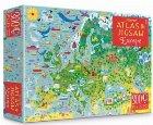 Europe atlas and jigsaw