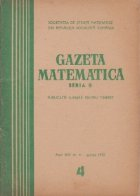 Gazeta matematica, 4/1970