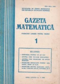 Gazeta matematica, 1/1981