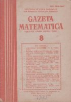 Gazeta Matematica, August 1985