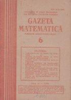 Gazeta Matematica, Iunie 1985