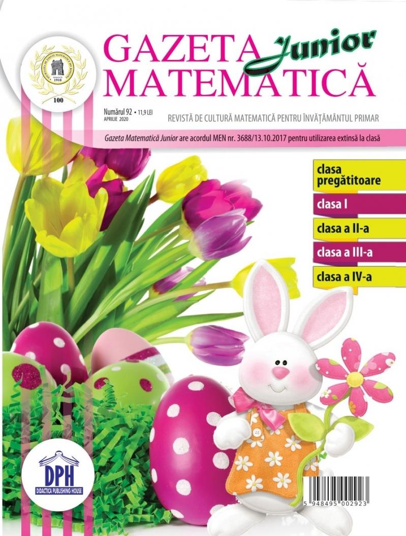 Gazeta Matematica Junior nr. 92 (Aprilie 2020)
