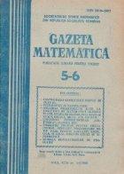 Gazeta Matematica, Mai-Iunie 1988