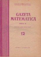Gazeta Matematica, Seria B, Decembrie 1971