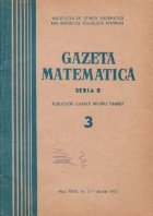 Gazeta Matematica, Seria B, Martie 1972
