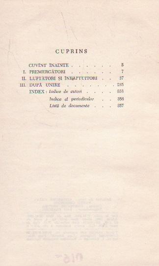 Gindirea social-politica despre unire (1859) - Culegere
