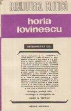 Horia Lovinescu interpretat de...