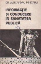 Informatie si conducere in sanatatea publica